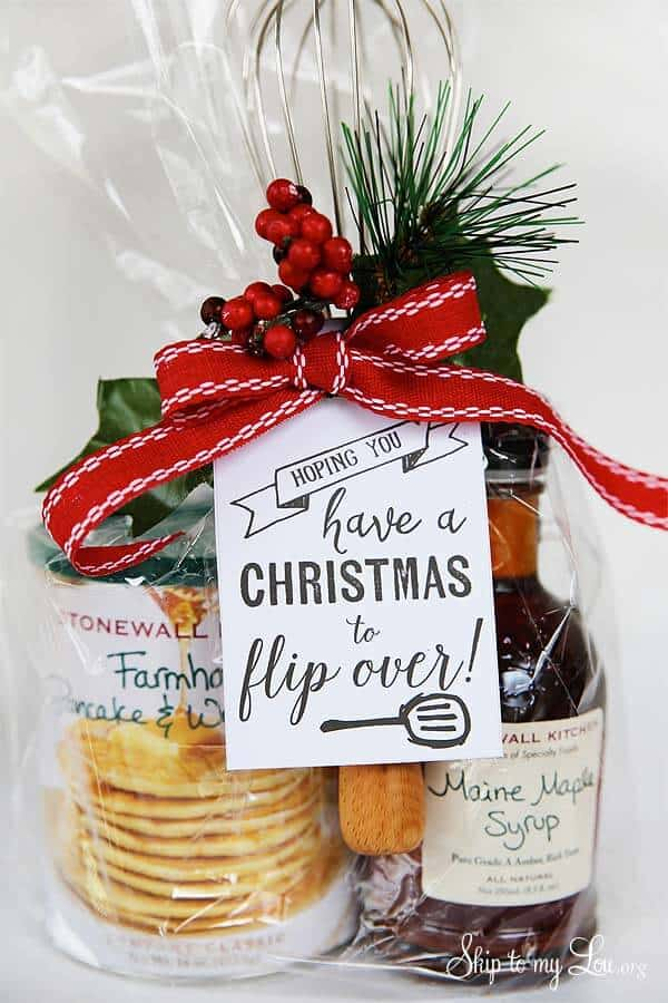 Pancake Breakfast Gift Set With A Fun Tag - Have A Christmas To Flip Over