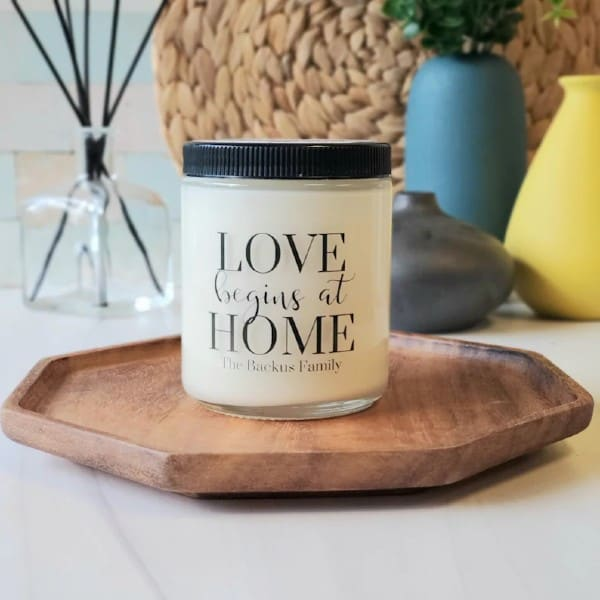 Personalized Family Candle