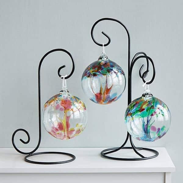 Recycled Glass Tree Globes - Relationships cheap christmas gifts