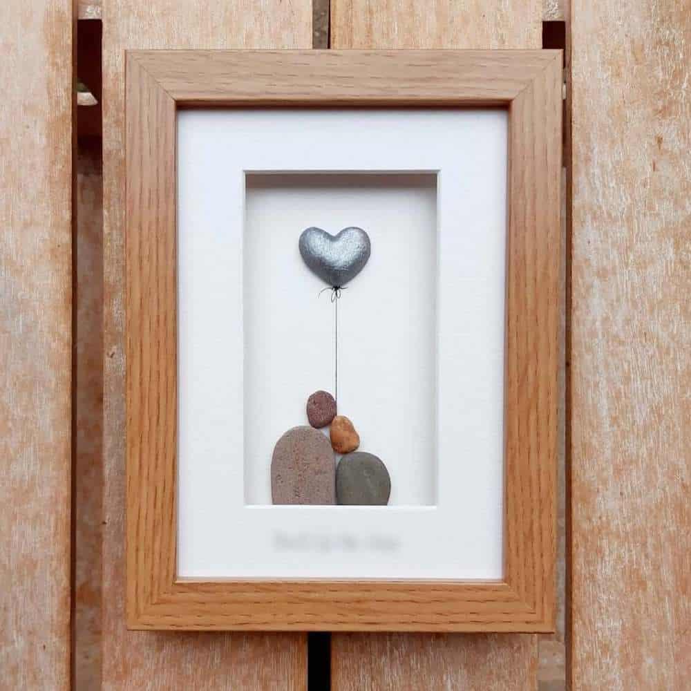 Steel Wedding Anniversary Pebble Art