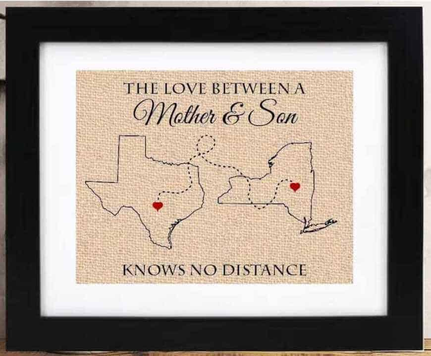 the love between a mother and son distance state maps