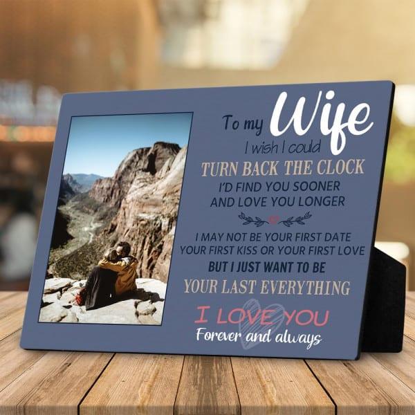 """""""To My Wife"""" Custom Photo Plaque"""