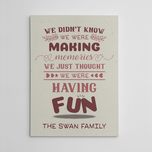 Having Funny Canvas Print for housewarming gifts