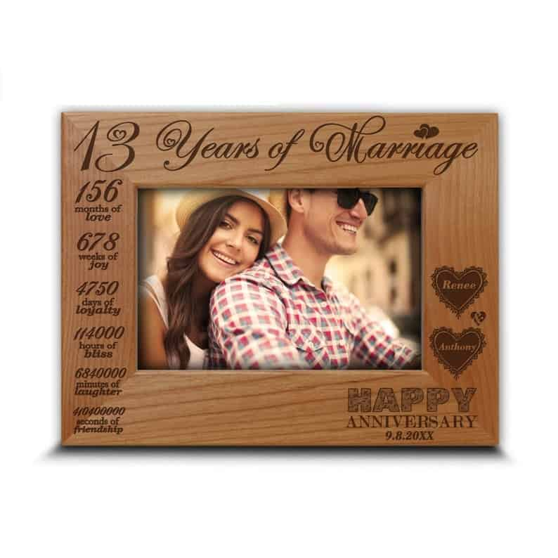 13 Years Anniversary Picture Frame