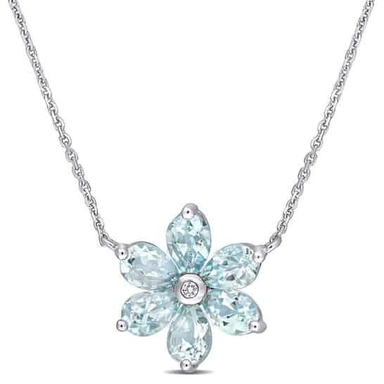 Aquamarine 19th anniversary gemstone