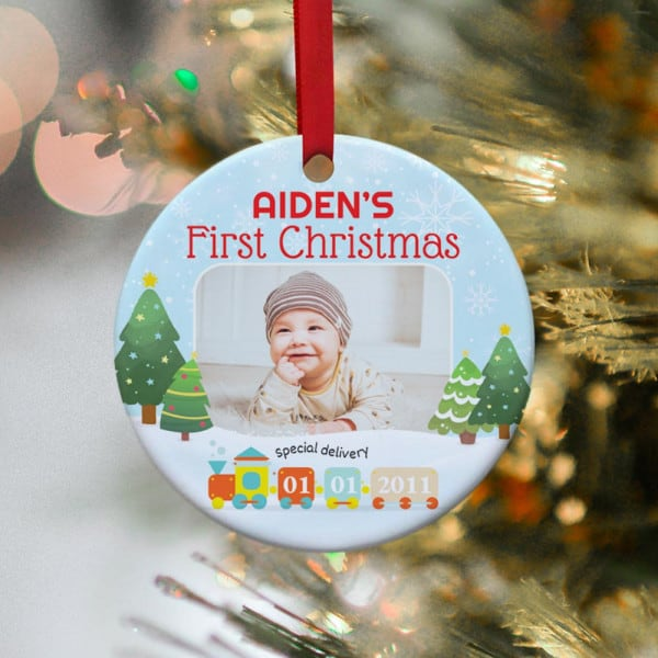 Photo of baby on ornament