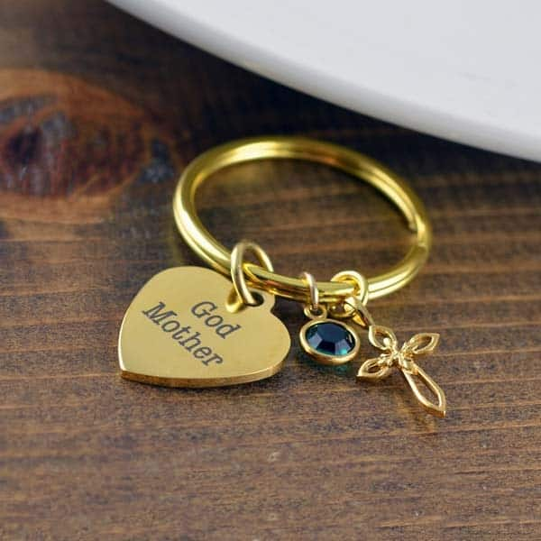 Birthstone Keychain: fairy godmother gifts