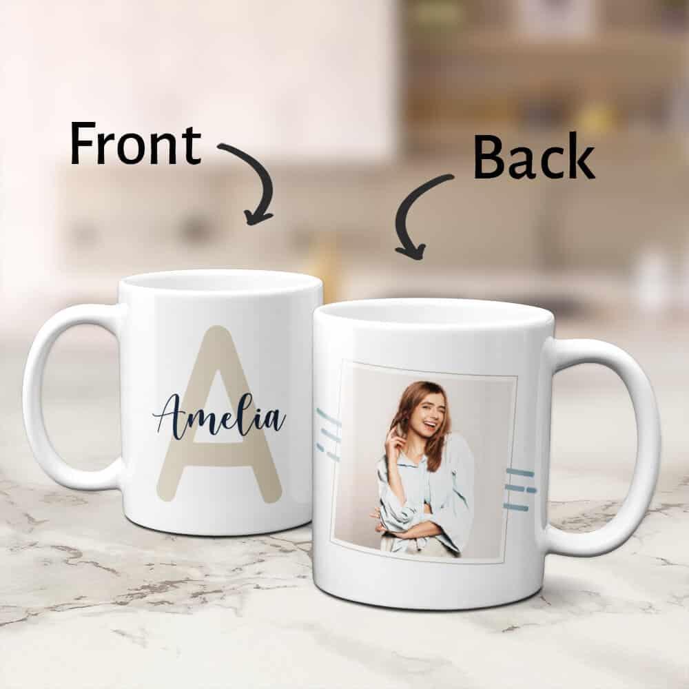 custom monogram mug gift for women