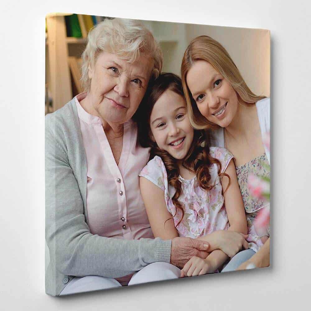 custom photo canvas gift for women