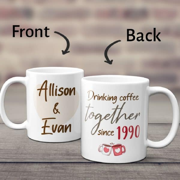 anniversary mug for couple