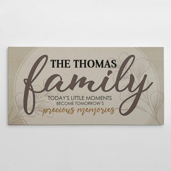 Family name on canvas print