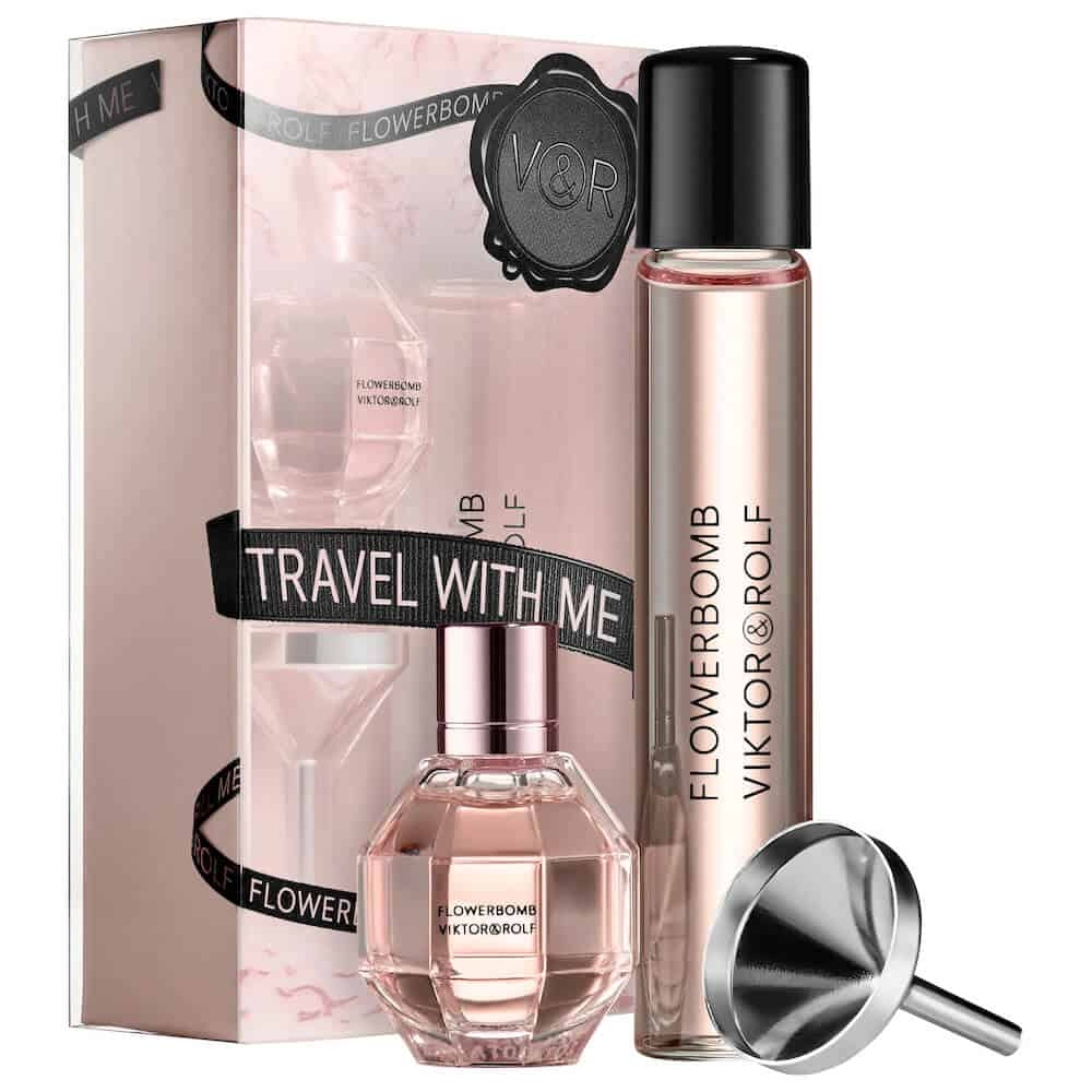 an inexpensive fragrance travel set for women