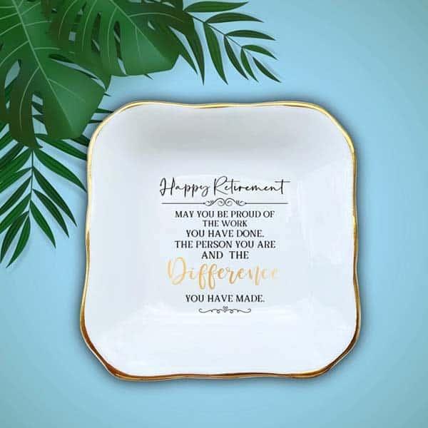 Happy Retirement Ring Dish