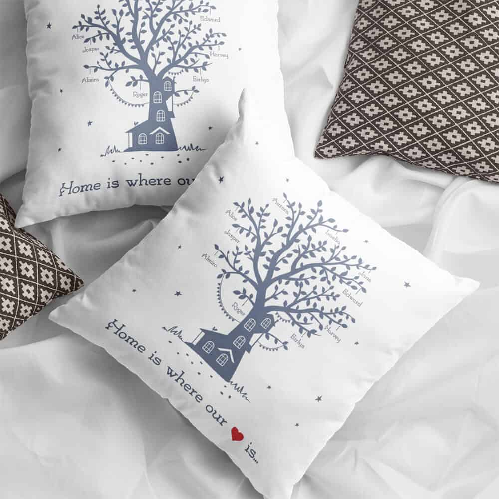 home is where our heart is throw pillow - cheap gift for women