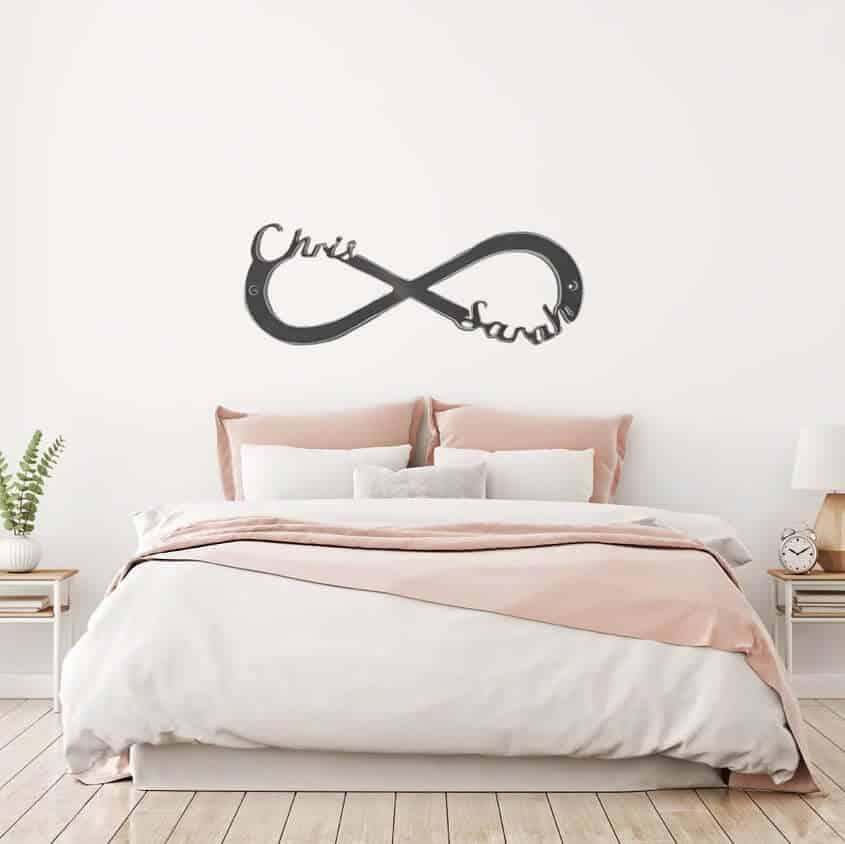 infinity symbol metal sign - 11 year wedding anniversary gift