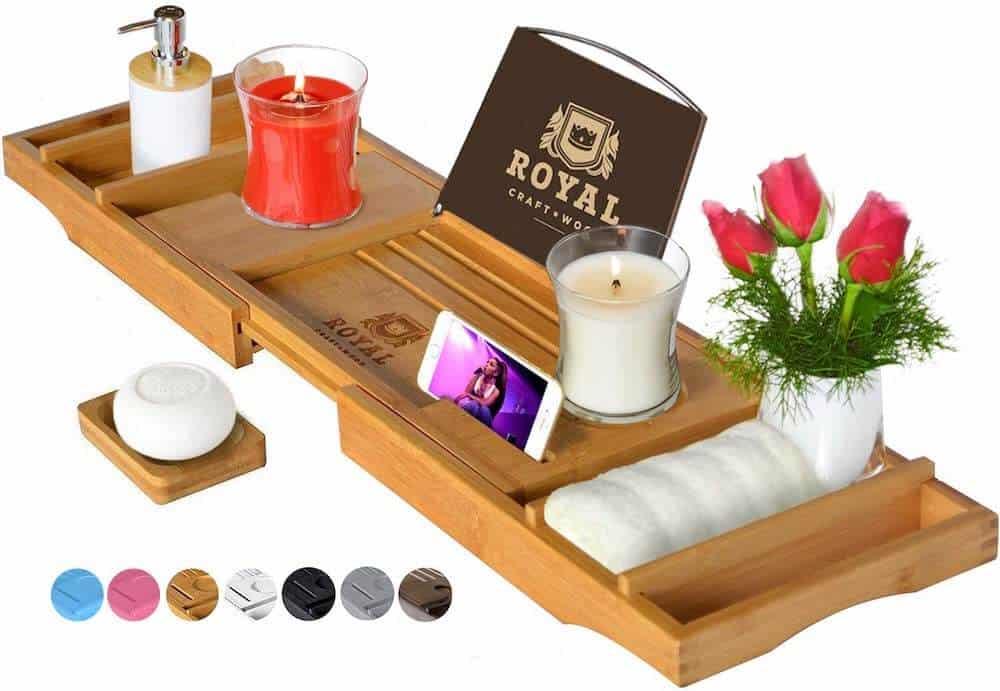 luxury bathtub caddy tray gift for her