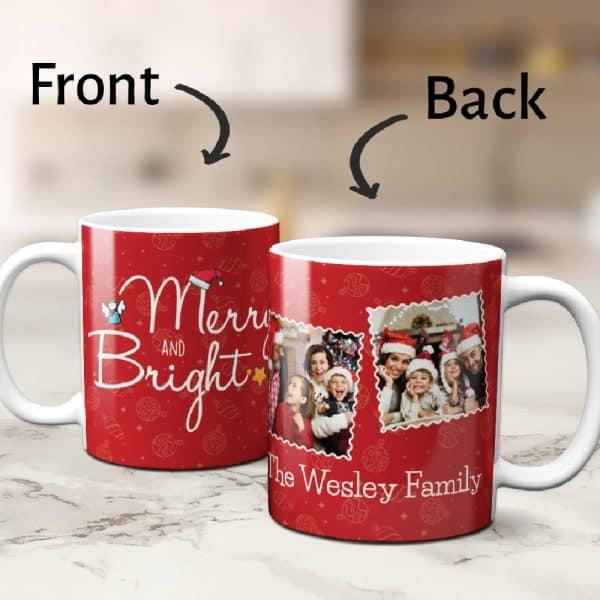 Family Christmas Photos On Mug