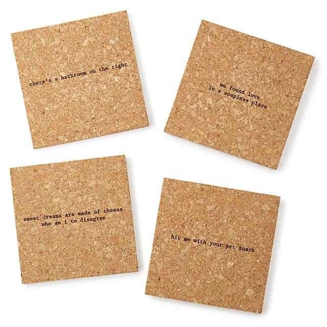 Mistaken Lyrics Coasters funny housewarming gifts