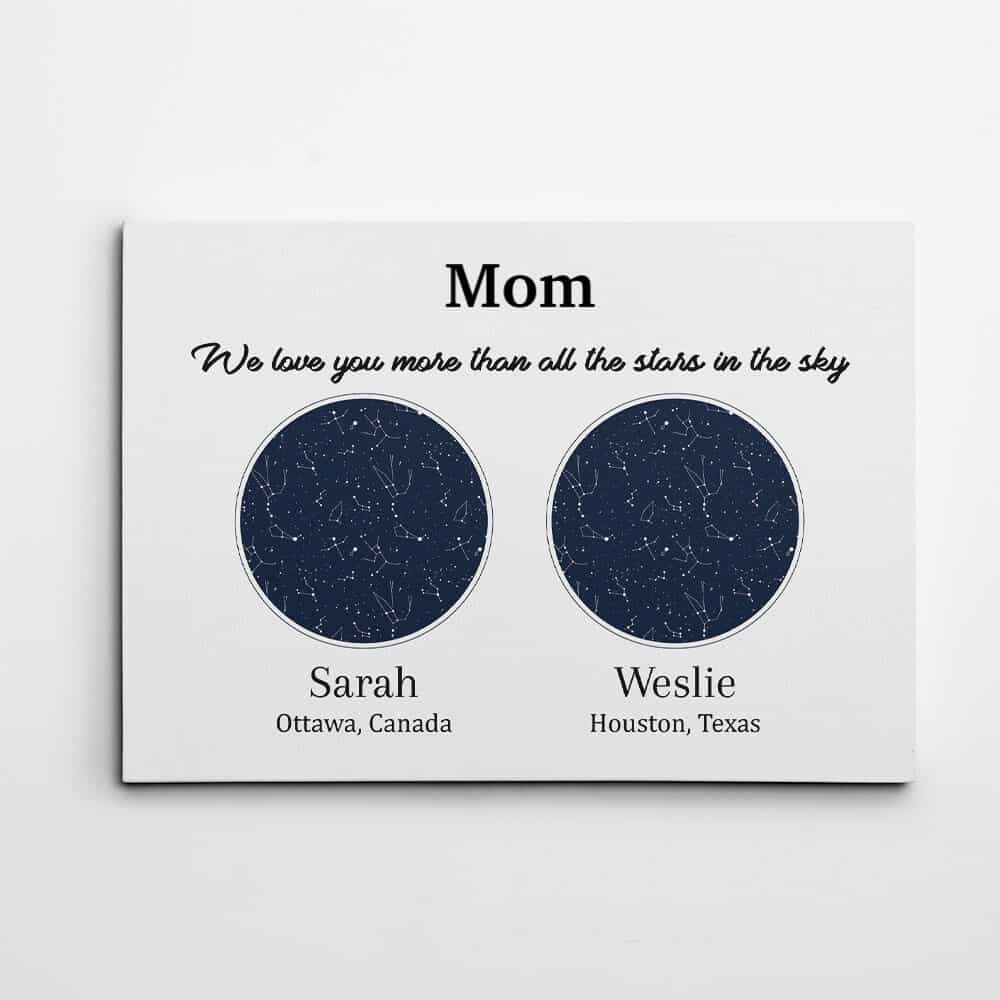 mom we love you more than all the stars canvas print