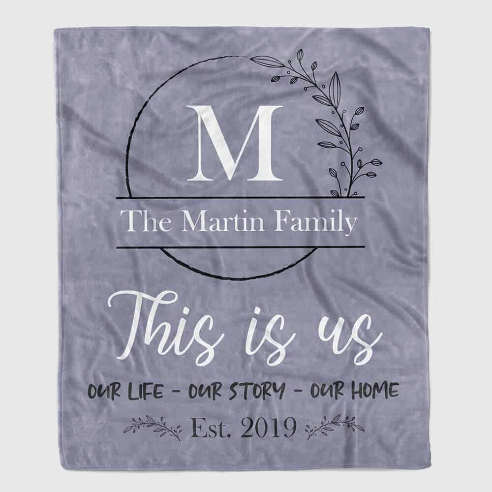 this is us custom blanket gifts for women
