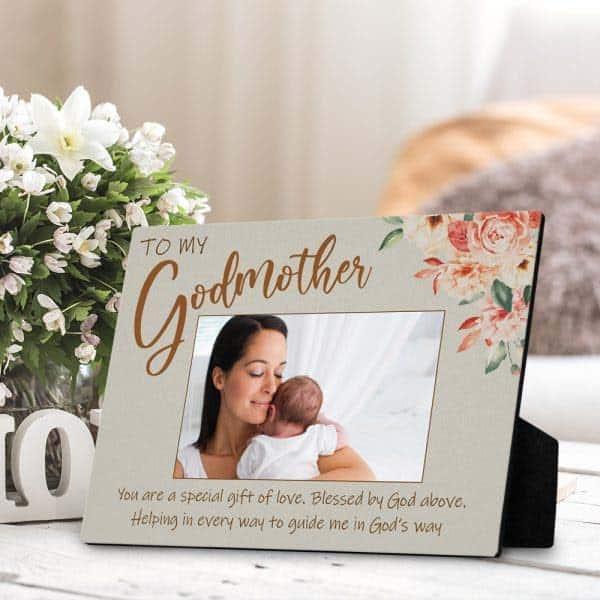 To My Godmother Desktop Plaque: godmother keepsake gifts