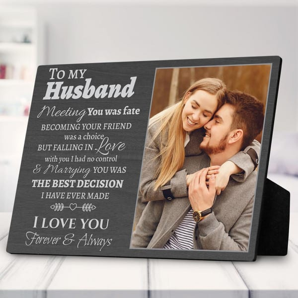 Custom Photo Plaque gift ideas for 45th anniversary