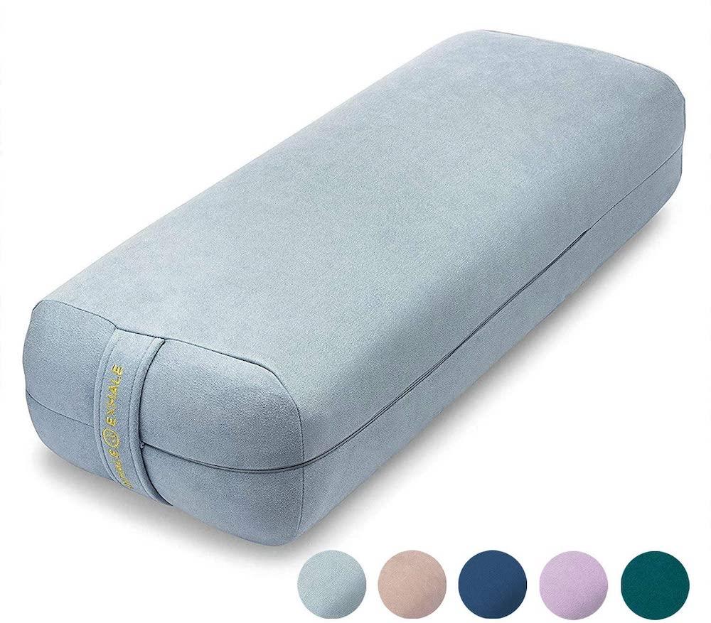 yoga bolster pillow for females