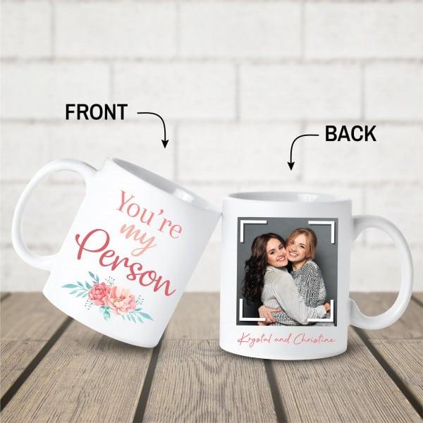 best friends photo on personalized mug