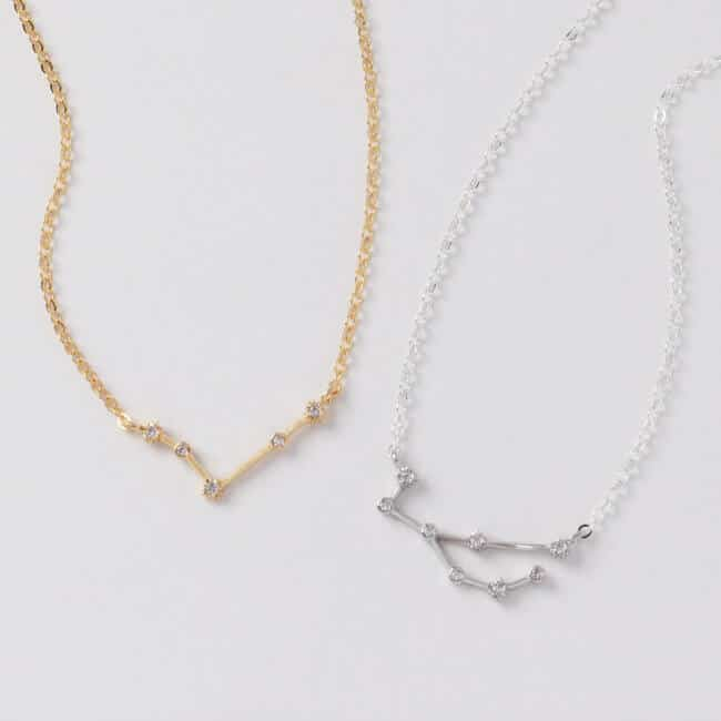 zodiac constellation necklace gift for her
