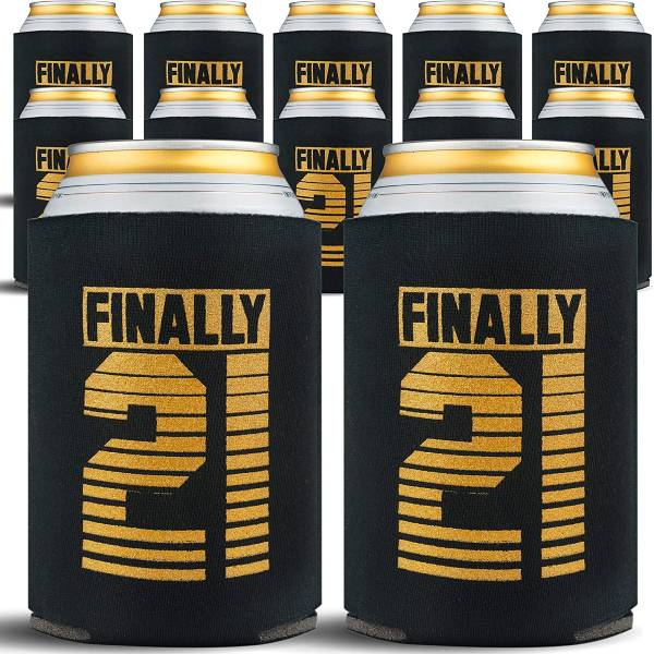 21st Birthday Can Cooler Coozie Sleeves 21st Birthday Gift Ideas