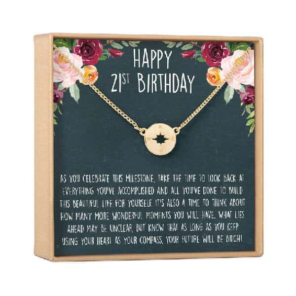 21st Birthday Gift Necklace