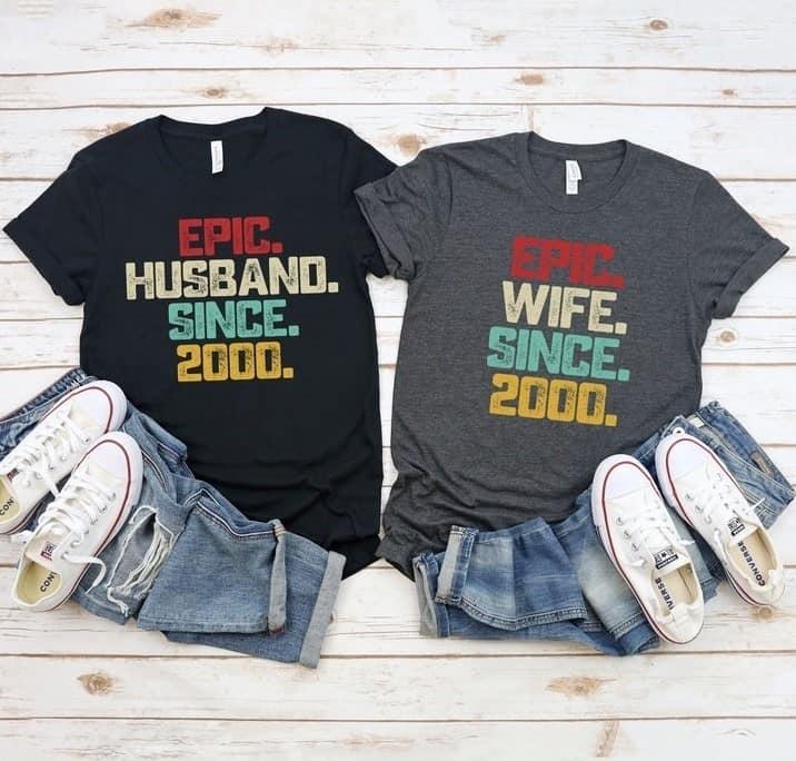 21st Wedding Anniversary Shirt For Couple
