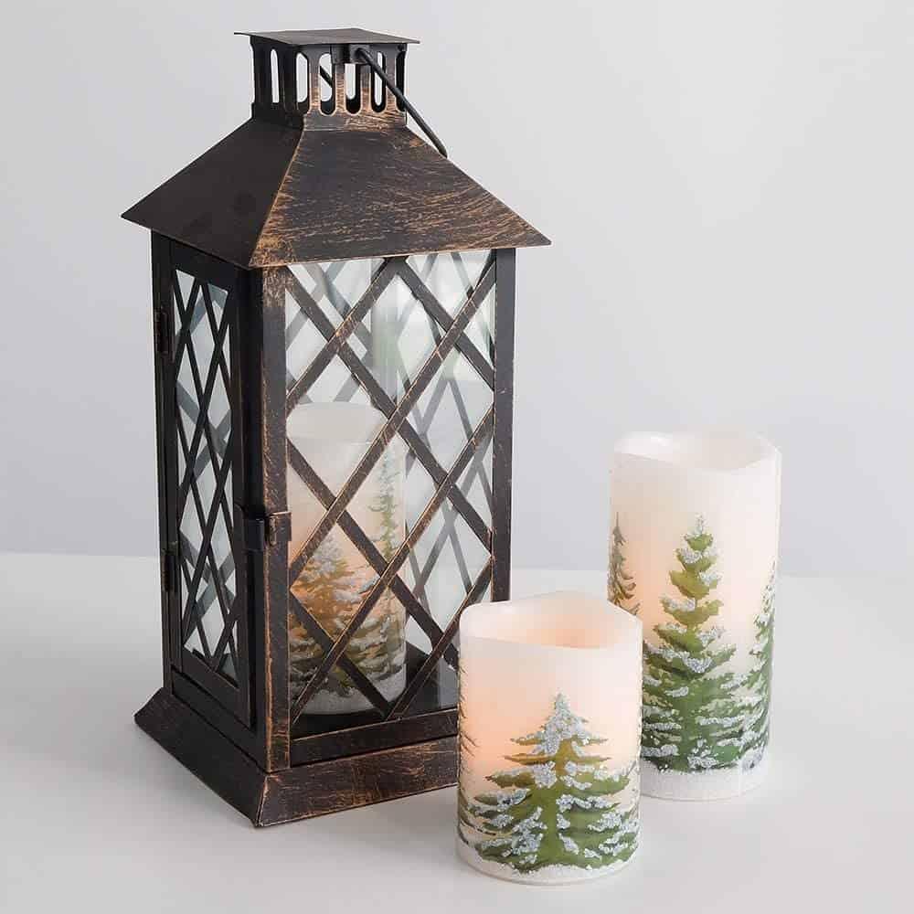 Green Tree Christmas Led Candles