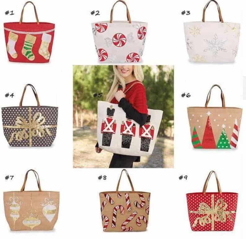 A Pretty Christmas Tote Bag