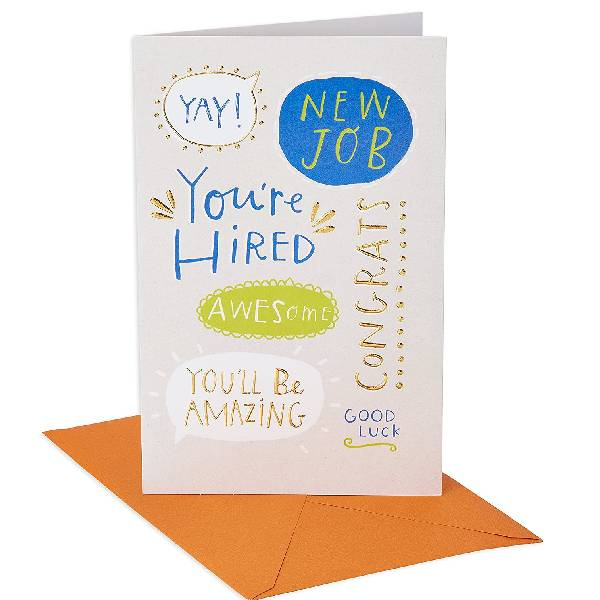 American Greetings New Job Card (You're Hired) Inexpensive Gifts For Coworkers