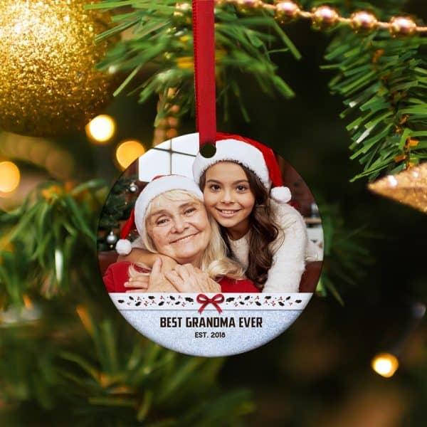 stocking stuffer for nana: Best Grandma Ever Custom Ornament