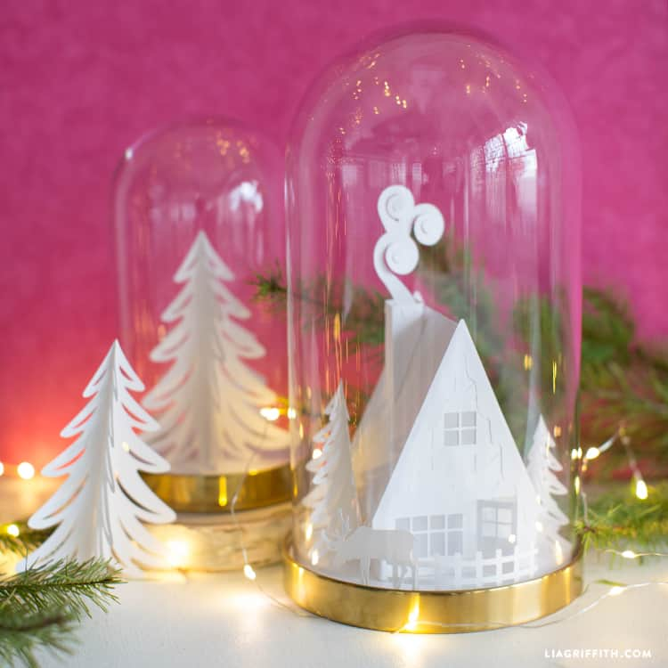 DIY Christmas Gifts - 3D Paper Cabin