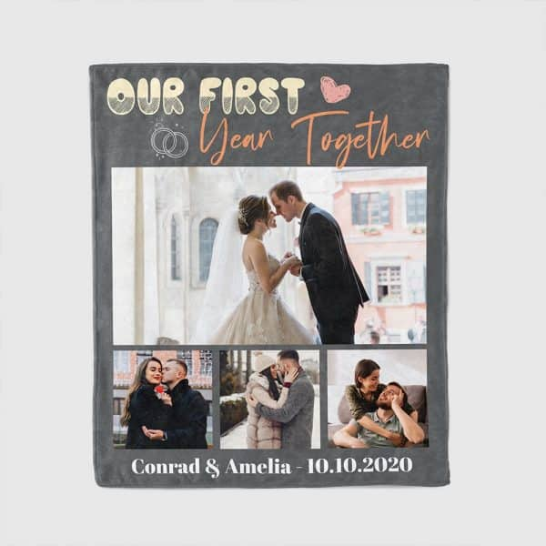 Couple's First Christmas Together Custom Blanket