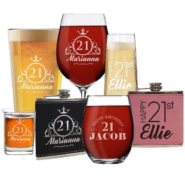 Custom Booze Vessels 21st Birthday Gift Ideas