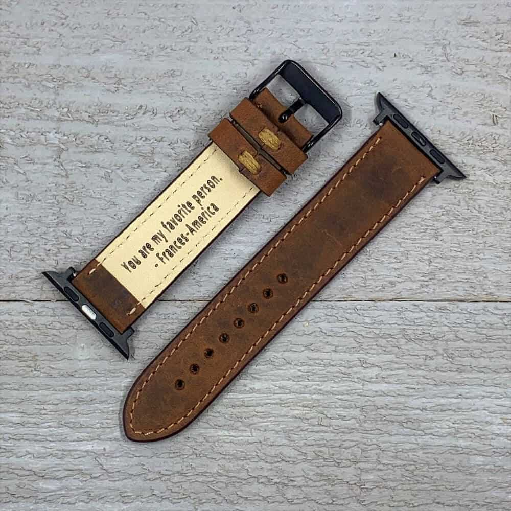 a leather band for apple watch - six months anniversary present for boyfriend