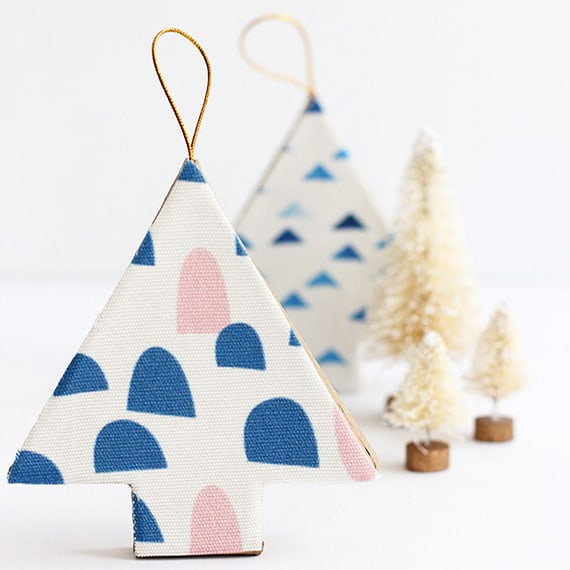 DIY Christmas Gifts - DIY Fabric Covered Tree Ornaments