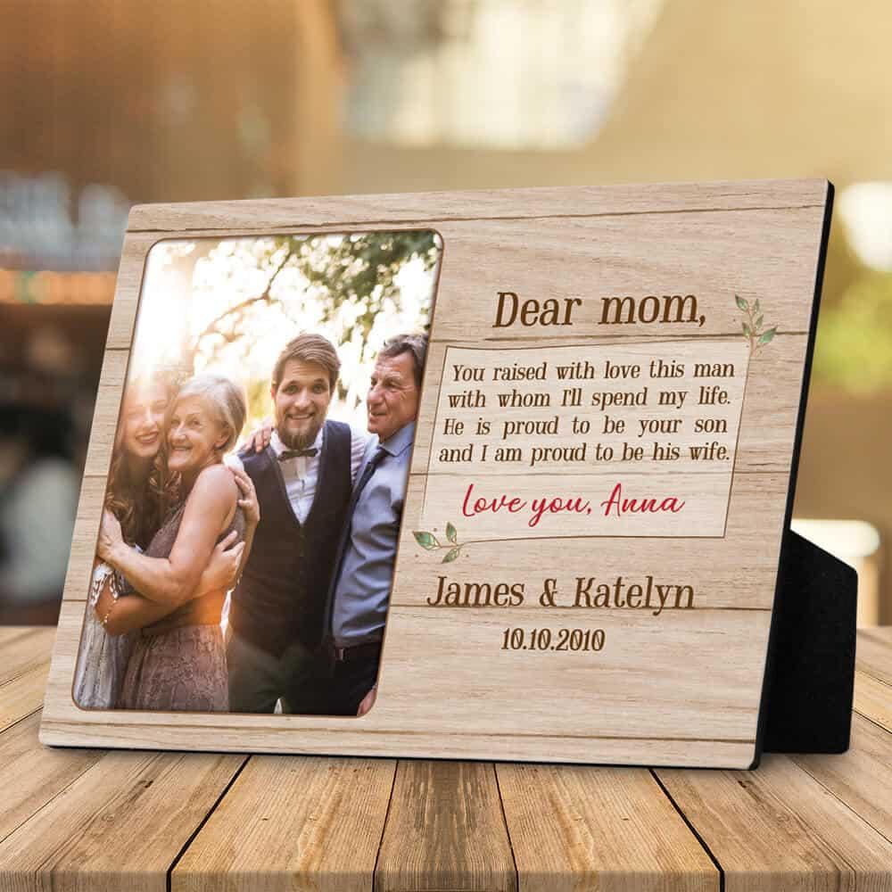 dear my mother in law desktop photo plaque gift