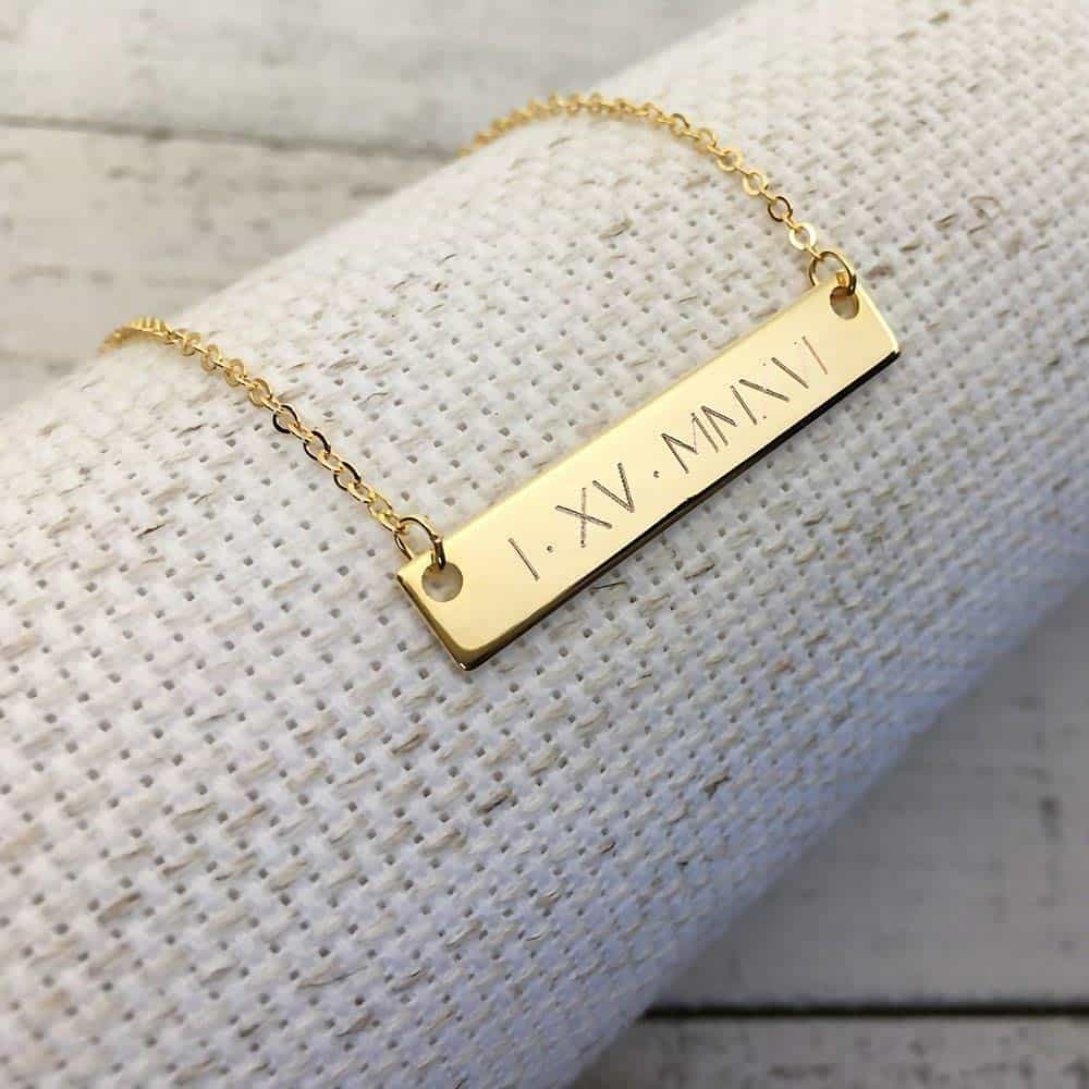 Engraved Date Necklace
