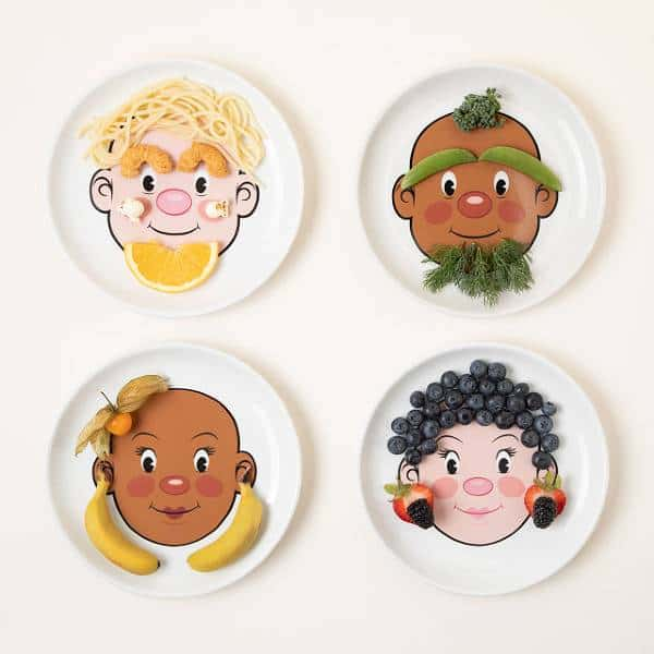 Food Face Plate Inexpensive Gifts For Coworkers