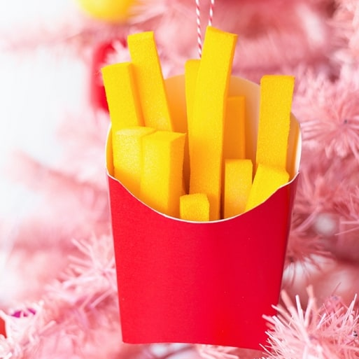 DIY Christmas Gifts -  DIY French Fries Ornament