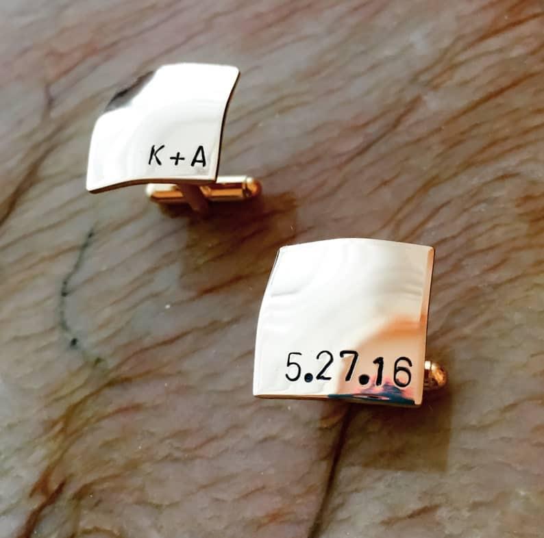 Gold Brass Cufflinks