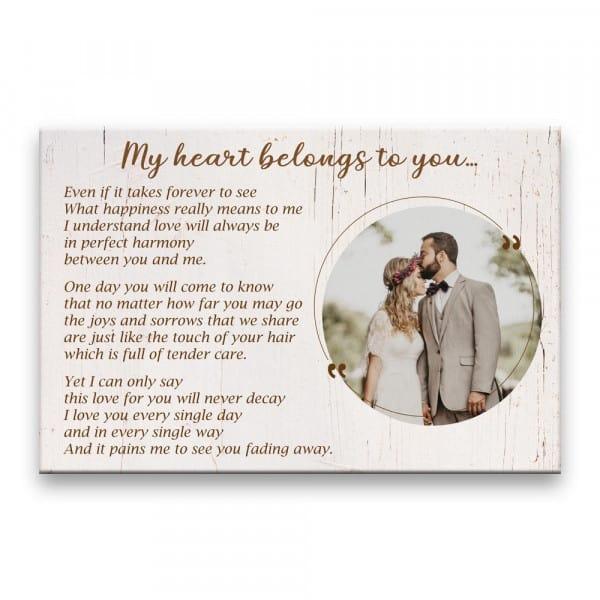 Heart-Touching Love Poem Custom Canvas