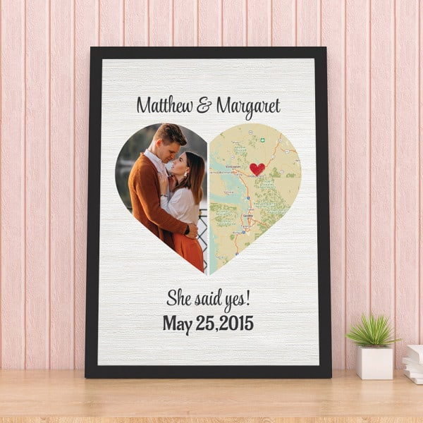 anniversary gifts for fiance: She Said Yes Wall Art
