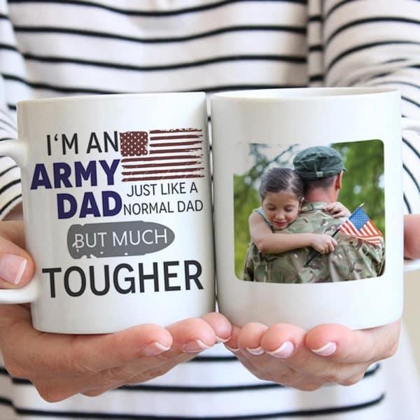 gifts for army dad: I'm An Army Dad Photo Mug