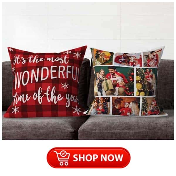 gifts for parents who have everything: photo collage suede pillow